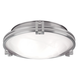 Possini Euro Deco 12 3/4 inch Wide Brushed Nickel Ceiling Light