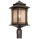 Franklin Iron Works™ Hickory Point 21 1/2 inch High Post Light