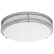 Zaire Brushed Nickel 17 inch Wide Flushmount LED Ceiling Light