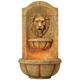 Lion Head Faux Stone 29 1/2 inch High LED Wall Fountain