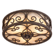 Natural Mica Collection 12 inch Wide Ceiling Light Fixture
