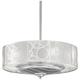 24 inch Casa Vieja® Chrome Drum Ceiling Fan