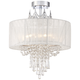 Hallie 16 inch Wide Clear Crystal Ceiling Light