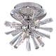 Possini Euro Crystal Burst 8 inch Wide Chrome Ceiling Light