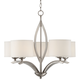 Possini Euro Ariano 27 1/4 inch Wide Brushed Nickel Chandelier