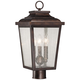 Irvington Manor 18 inch High Bronze Outdoor Post Mount Light