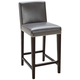 Brooke 25 1/2 inch Gray Bonded Leather Counter Stool