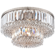 Magnificence Satin Nickel 16 inch Wide Crystal Ceiling Light