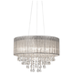 Possini Euro Jolie 20 inch Wide Silver Fabric Crystal Chandelier