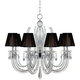 Derry Street 32 inch Wide Chrome and Crystal 8-Light Chandelier