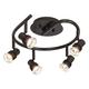 Pro Track® Spiral Bronze 5-Light LED Ceiling Fixture