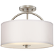 Possini Euro Halsted 15 inch Wide Brushed Nickel Ceiling Light
