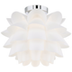 Possini Euro Design White Flower 15 3/4 inch Wide Ceiling Light