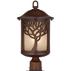 Mission Style Oak Tree 18 3/4 inch High Bronze Finish Post Light