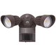 Eco-Star 13 inch Wide Bronze Motion Sensor LED Security Light