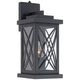 Woodland Park Black 15 inch High Dusk to Dawn Outdoor Light