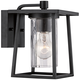 Quoizel Lodge 9 inch High Black Outdoor Wall Light
