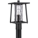 Quoizel Lodge 16 inch High Black Outdoor Post Light
