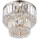 Magnificence Satin Nickel 10 inch Wide Crystal Ceiling Light