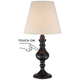 Ted Dark Bronze 18 1/2 inch High Touch On-Off Accent Table Lamp