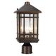 J du J Sierra Craftsman 14 inch High Outdoor Post Mount Light