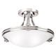 Possini Euro Deco 16 inch Wide Brushed Nickel Ceiling Light
