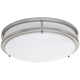 Zaire Brushed Nickel 17 inch Wide Cool White LED Ceiling Light