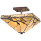 Budding Branch 14 inch Wide Tiffany Style Ceiling Light