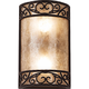 Natural Mica Collection 12 1/2 inch High Wall Sconce Fixture
