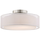 Opal White Dual Shade 12 1/2 inch Wide Drum Ceiling Light
