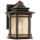 Hickory Point 12 inch High Walnut Bronze Outdoor Wall Light