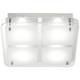 Elin Chrome 11 1/4 inch Square Frosted Glass LED Ceiling Light