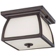 Feiss Wright House 9 inch Wide Bronze Outdoor Ceiling Light
