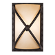 Minka Knotted Iron 9 1/4 inch High Pocket Wall Sconce