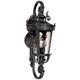Casa Marseille™ 19 inch High Black Outdoor Wall Light