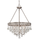 Regina Brushed Nickel 19 inch Wide Crystal Chandelier