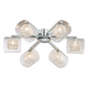 Possini Euro 24 inch Wide Chrome Ceiling Light