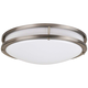 Effie 14 inch Wide Nickel Round LED Ceiling Light