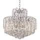 Leya 19 inch Wide Chrome and Crystal 6-Light Chandelier