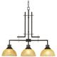 Metro 33 3/4 inch Wide Bronze Kitchen Island Light Chandelier