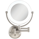 Surround Lighted 12 3/4 inch High Satin Nickel Mirror