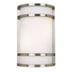 Bay View Collection 12 inch High Steel Finish Outdoor Wall Light