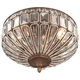 Ibeza 15 1/2 inch Wide Crystal Mocha 3-Light Ceiling Light
