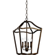Feiss Yarmouth 14 3/4 inch Wide 5-Light Aged Brass Foyer Pendant