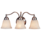 Feiss Bristol Collection 18 inch Wide Pewter 3-Light Bath Fixture
