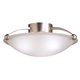 17 inch Wide Traditional Brushed Steel Ceiling Light Fixture