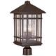 J du J Sierra Craftsman 18 inch High Outdoor Post Mount Light