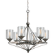 Cresco Collection 28 1/2 inch Wide Textured Steel Chandelier