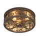 Casa Seville 12 inch Wide Walnut Indoor-Outdoor Ceiling Light