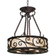 Natural Mica Collection 17 inch Wide Pendant Chandelier